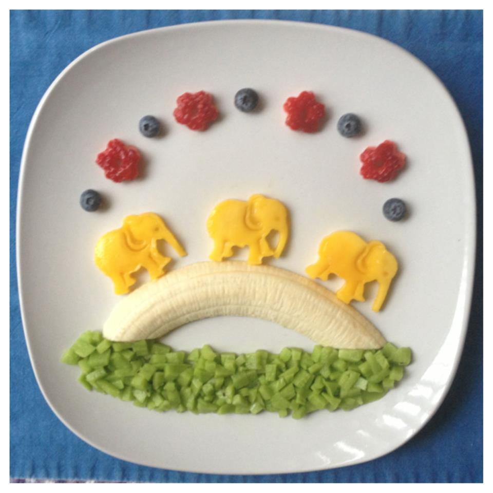 elephants and bananas