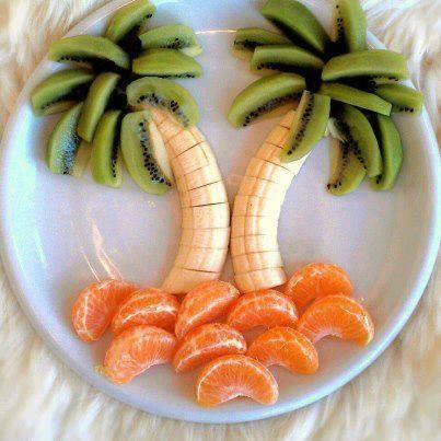 palm trees with orange